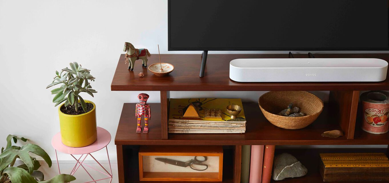 sonos beam connected to a tv