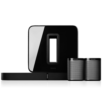5.1 Surround Sound Package with Playbase black