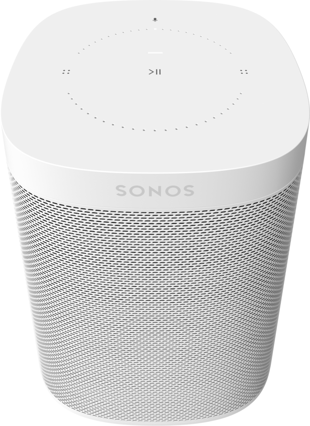 Sonos One (Gen 2) Smart Speaker with Voice Control built-in - White
